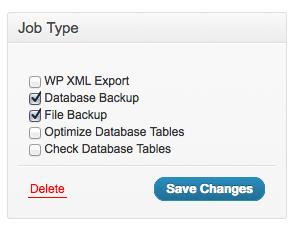 WordPress プラグイン BackWPup